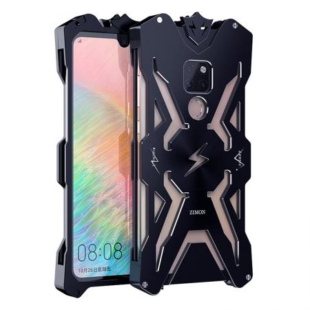 Aluminum Metal Shockproof Case Cover for Huawei Mate 20 - Black