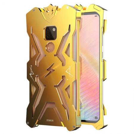 Aluminum Metal Shockproof Case Cover for Huawei Mate 20 - Gold