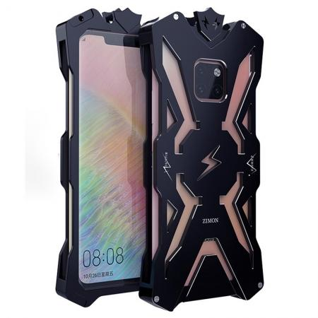 Shockproof Aluminum Metal Case for Huawei Mate 20 Pro - Black
