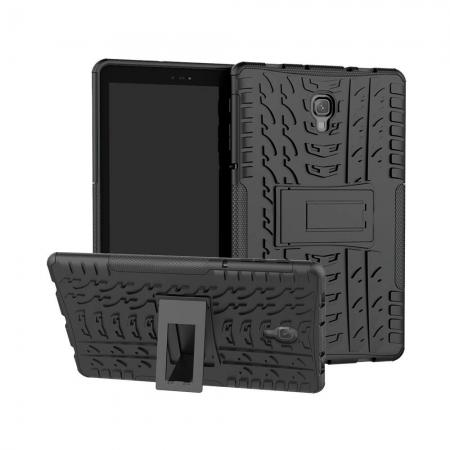 Dual Layer Protection Shockproof Cover Hybrid Rugged Case with Kickstand for Samsung Galaxy Tab A 10.5 [SM-T590/SM-T595] - Black