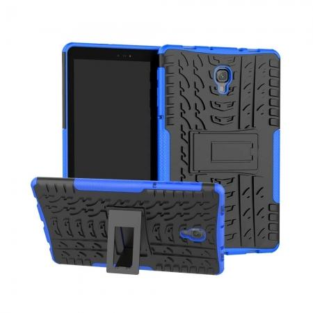 Dual Layer Protection Shockproof Cover Hybrid Rugged Case with Kickstand for Samsung Galaxy Tab A 10.5 [SM-T590/SM-T595] - Blue