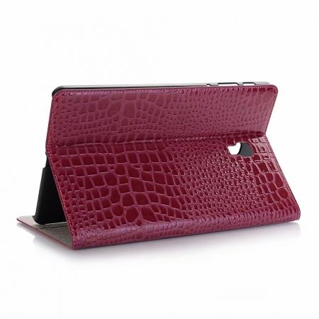 For Samsung Galaxy Tab A 10.5 T590/T595 2018 Crocodile Pattern Stand Leather Case - Rose