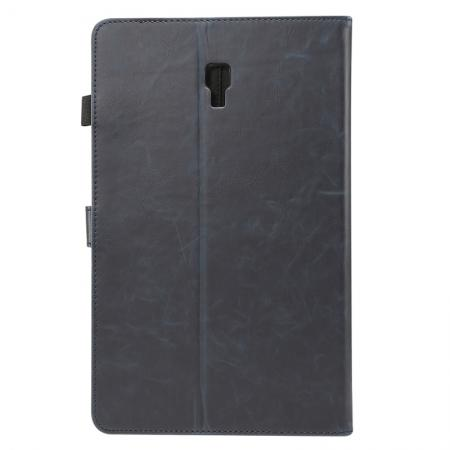 For Samsung Galaxy Tab A 10.5 T590 / T595 Luxury Crazy Horse Texture Stand Leather Case - Dark Blue