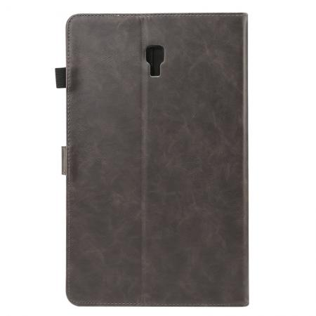 For Samsung Galaxy Tab A 10.5 T590 / T595 Luxury Crazy Horse Texture Stand Leather Case - Grey