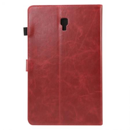 For Samsung Galaxy Tab A 10.5 T590 / T595 Luxury Crazy Horse Texture Stand Leather Case - Red