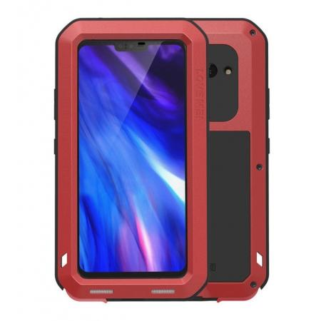 LOVE MEI Powerful Shockproof Aluminum Case For LG V40 ThinQ - Red
