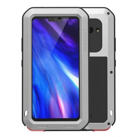LOVE MEI Powerful Shockproof Aluminum Case For LG V40 ThinQ - Silver