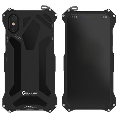 R-Just Gundam Aluminum Alloy Shockproof Case for iPhone XR - Black
