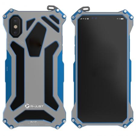 R-Just Gundam Aluminum Alloy Shockproof Case for iPhone XR - Blue