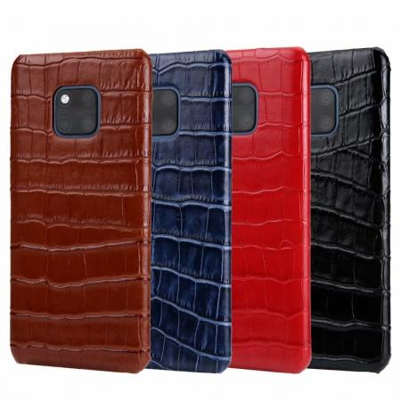 Crocodile Pattern Genuine Leather back Case for Huawei Mate 20 Pro