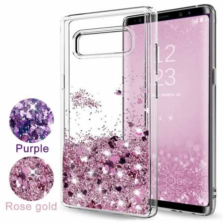 For Samsung Galaxy Note 9 / Note 8 / S10 / S10 Plus Glitter Liquid Quicksand TPU Case Cover