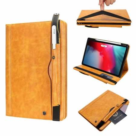 Business Smart Sleep/Wake Stand Leather case For iPad pro 11-inch - Yellow