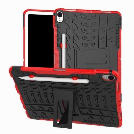For iPad Pro 11-inch Dual Layer Hybrid Shockproof Kickstand Case - Red