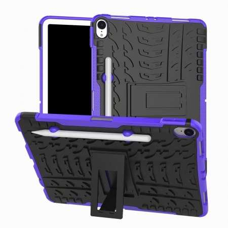 For iPad Pro 11-inch Dual Layer Hybrid Shockproof Kickstand Case - Purple