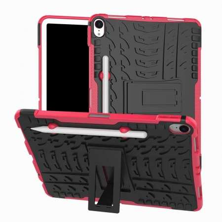 For iPad Pro 11-inch Dual Layer Hybrid Shockproof Kickstand Case - Hot Pink