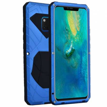 Shockproof Aluminum Metal Kickstand Case for Huawei Mate 20 Pro - Blue