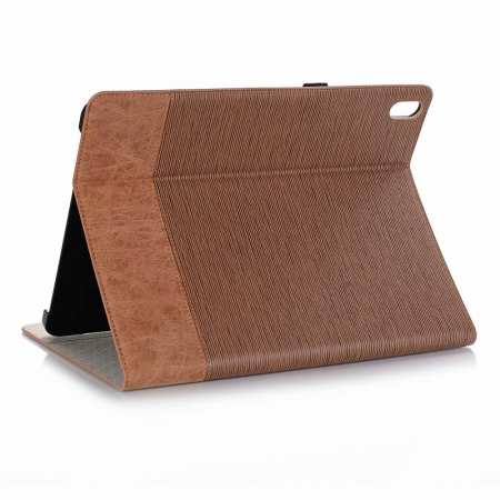 "Cross Pattern Stand Smart Leather Case for iPad Pro 12.9"" 2018  - Brown"