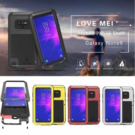 Heavy Duty Armor Aluminum Metal Shockproof Hard Case For Samsung Galaxy Note 9