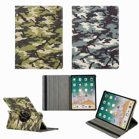 360 Rotating Camouflage Stand Leather Case For iPad Pro 11 inch