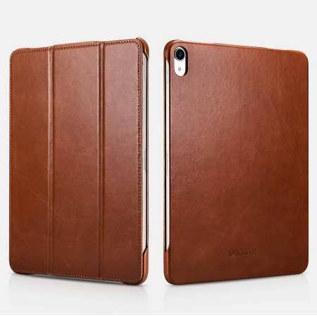 ICARER Vintage Series Genuine Leather Smart Case For iPad Pro 11 inch - Brown