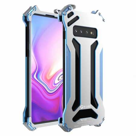 For Samsung Galaxy S10 Lite Aluminum Metal Shockproof Case - Blue