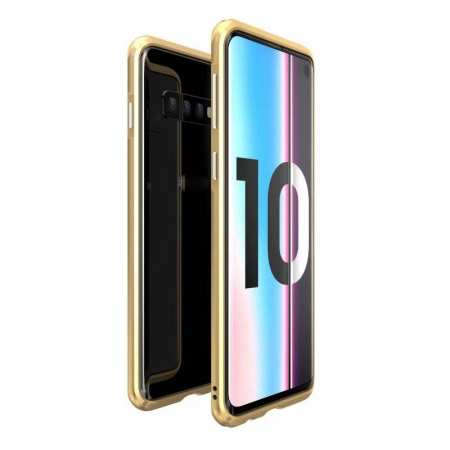 Shockproof Aluminum Metal Frame Case for Samsung Galaxy S10 - Gold