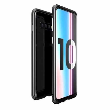 Shockproof Aluminum Metal Bumper Case for Samsung Galaxy S10 Plus - Black