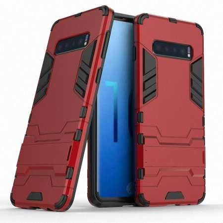 Armor Hybrid Slim Case Shockproof Stand Cover For Samsung Galaxy S10e - Red
