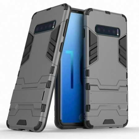 Armor Hybrid Slim Case Shockproof Stand Cover For Samsung Galaxy S10e - Grey