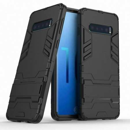 Armor Hybrid Slim Case Shockproof Stand Cover For Samsung Galaxy S10e - Black