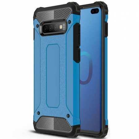 Hybrid Armor Case For Samsung Galaxy S10e Shockproof Rugged Bumper Cover - Blue