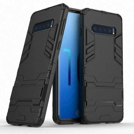 Shockproof Hybrid Armor Stand Case Cover For Samsung Galaxy S10e - Black
