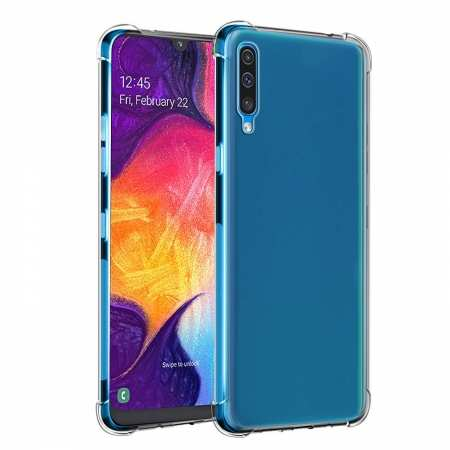 For Samsung Galaxy A50 Shockproof Rubber Clear Soft TPU Case Cover