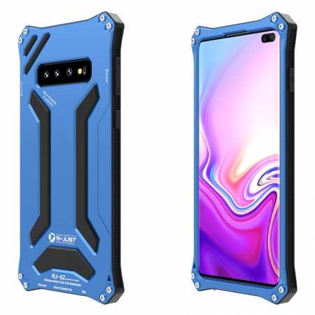 Shockproof Aluminum Metal TPU Case Cover For Samsung Galaxy S10 - Blue