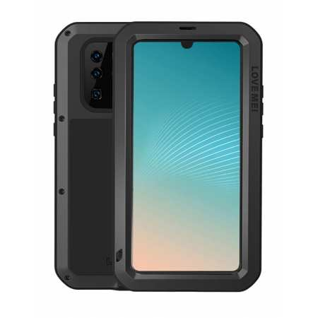 Shockproof Dropproof Dustproof Aluminum Metal Case Cover for Huawei P30 - Black