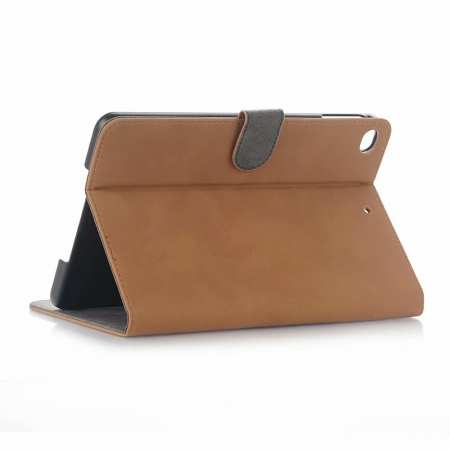 Retro Stand Flip Leather Case for iPad Mini 5 - Brown
