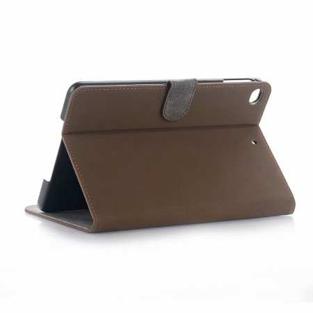 Retro Stand Flip Leather Case for iPad Mini 5 - Coffee
