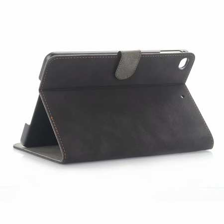 Retro Stand Flip Leather Case for iPad Mini 5 - Dark Grey