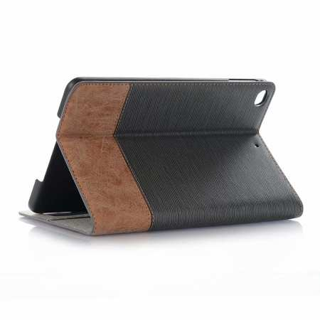 Cross Texture Wallet Leather Stand Case For iPad Mini 5 - Grey