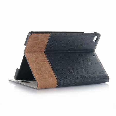 Cross Texture Wallet Leather Stand Case For iPad Mini 5 - Dark Blue