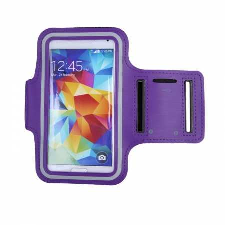 For Nokia 6.2 / Nokia X71 Sport Gym Running Joging Armband Case Cover Holder - Purple