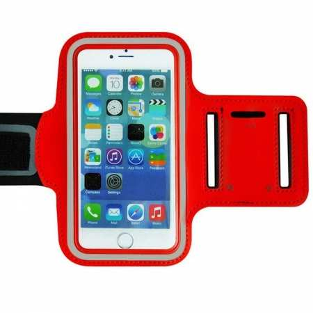 For Nokia 6.2 / Nokia X71 Armband Case Sports Gym Running Jogging Exercise Arm Band Phone Holder Key Bag - Red