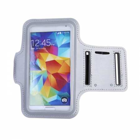 For Nokia 6.2 / Nokia X71 Sport Running Armband Jogging Gym Arm Band Pouch - White