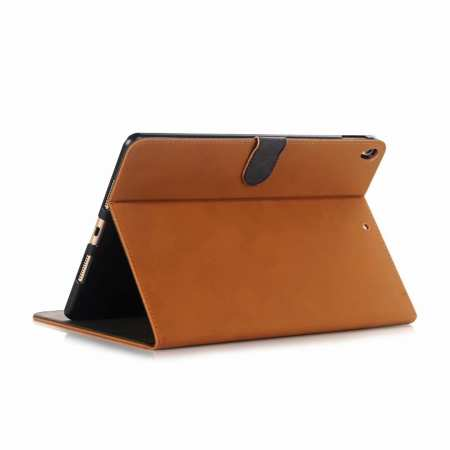 "For iPad Air 2019 10.5"" Retro Folio Magnetic Leather Case With Stand  - Brown"