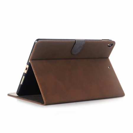 "For iPad Air 2019 10.5"" Retro Folio Magnetic Leather Case With Stand  - Dark Brown"