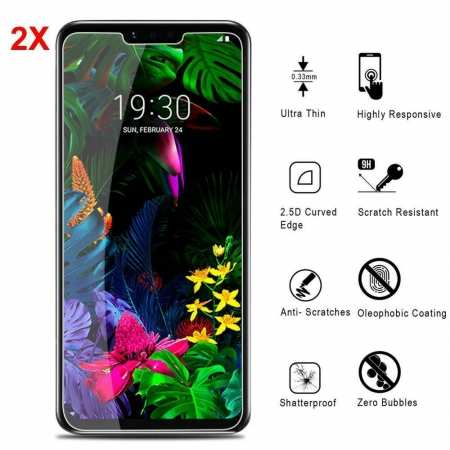 2-Pack For LG G8 ThinQ G820 9H Premium Tempered Glass Genuine Screen Protector