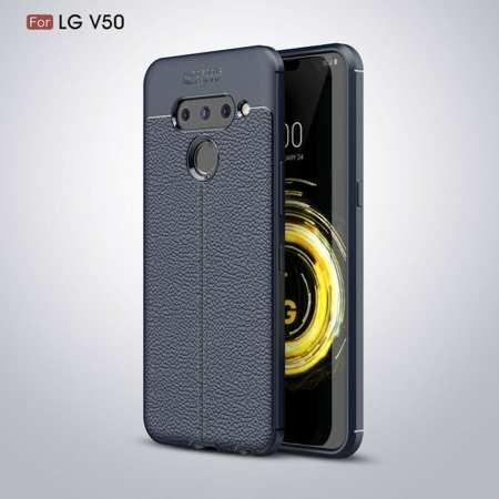 For LG G8 ThinQ Shockproof Armor Soft Slim TPU Back Case - Navy