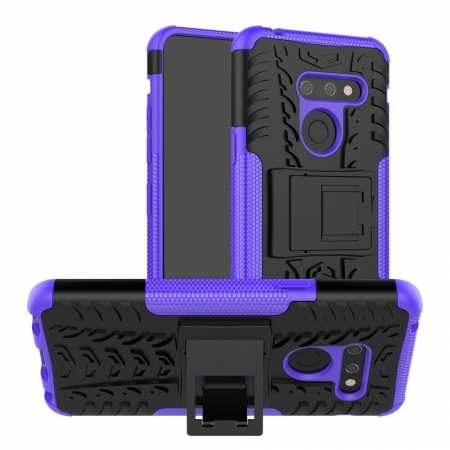 For LG G8 ThinQ Case Cover Shockproof Hybrid Rugged Rubber - Purple
