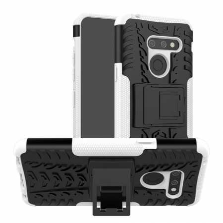 For LG G8 ThinQ Phone Case Luxury Shockproof Rugged Rubber Hard Cover - White