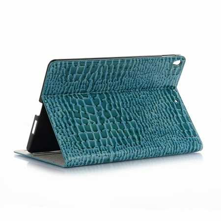 "For iPad Air 10.5"" 2019 Crocodile Skin Pattern Stand Leather Case - Blue"